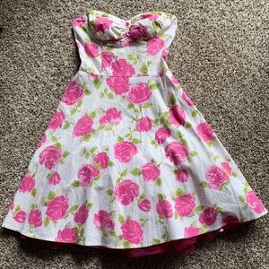Strapless Rose Dress